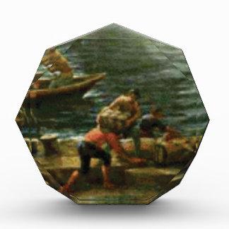 men load ships acrylic award