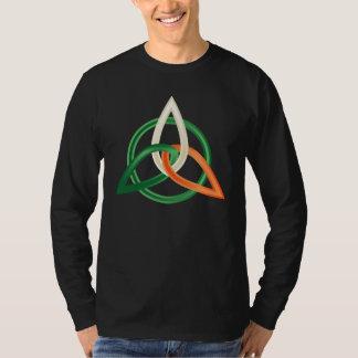 Men  long sleeve shirt with St. Patrick's  ornamen