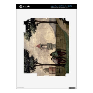 Men Looking over a Wall, from the Visitation (fres iPad 3 Decal