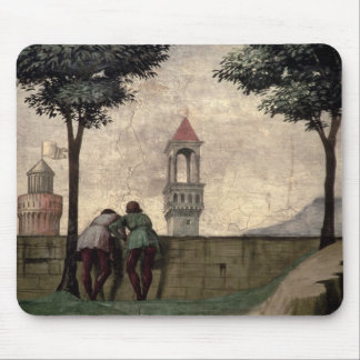 Men Looking over a Wall, from the Visitation (fres Mouse Pad