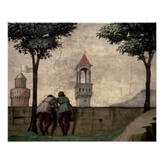 Men Looking over a Wall, from the Visitation (fres Poster