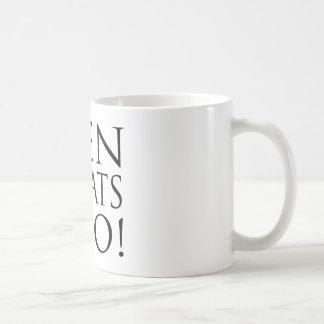 Men Love Cats Too! Classic White Coffee Mug