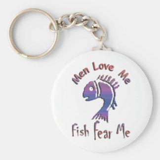 MEN LOVE ME - FISH FEAR ME KEYCHAIN