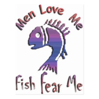 MEN LOVE ME - FISH FEAR ME POST CARD
