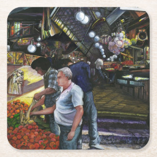 Men of Commerce, Jerusalem Square Paper Coaster