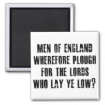 Men of England 2 Inch Square Magnet