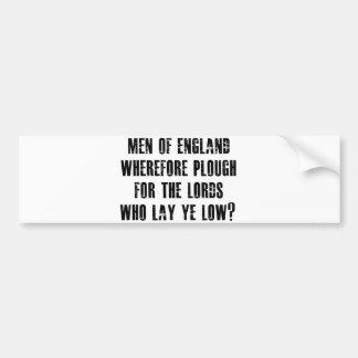 Men of England Bumper Sticker