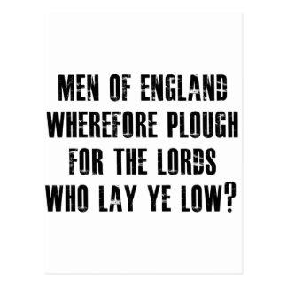 Men of England Postcard