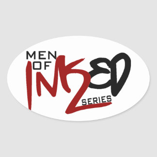 Men of Inked Household Items Oval Stickers