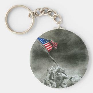 Men of Iwo Jima Basic Round Button Keychain