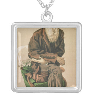Men of the Day, no. 33, Charles Darwin Silver Plated Necklace