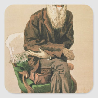 Men of the Day, no. 33, Charles Darwin Square Sticker