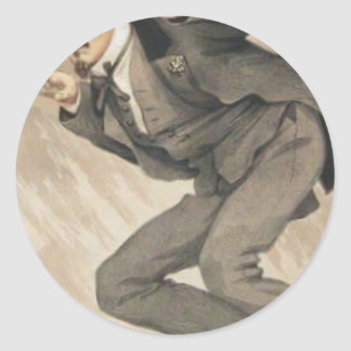 Men of the Day No.4, The mob rule by James Tissot Classic Round Sticker