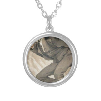 Men of the Day No.4, The mob rule by James Tissot Round Pendant Necklace