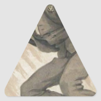Men of the Day No.4, The mob rule by James Tissot Triangle Sticker