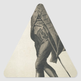 Men of the Day No.610 Caricature of Lt Col Lord Triangle Sticker
