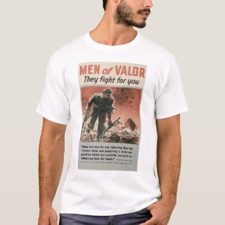 men of valor WWII poster t-shirt