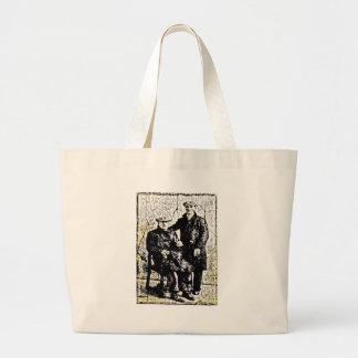 Men of Yore Large Tote Bag