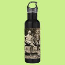 Men on a Bench Water Bottle