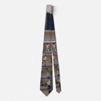 Men On Scaffolding Neck Tie
