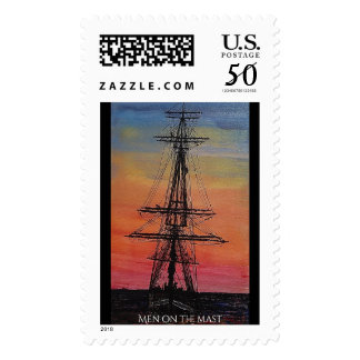 Men on the mast postage