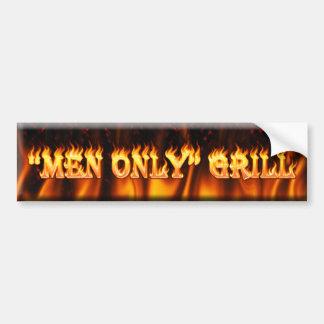 men only grill bumper sticker