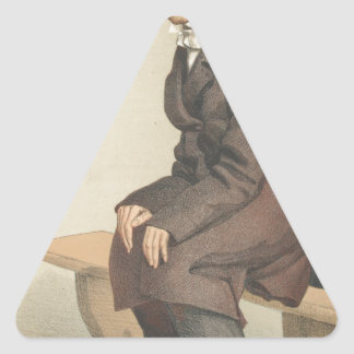 Men or Women of the Day No.10 Caricature Triangle Sticker