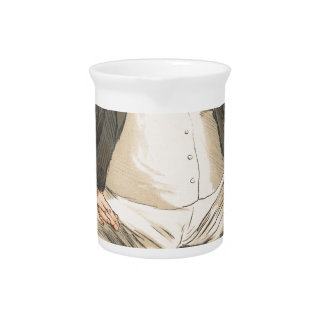 Men or Women of the Day No.310 Caricature Drink Pitcher