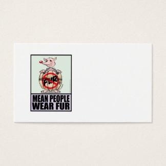 Men People Wear Fur Business Card