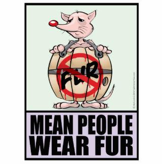 Men People Wear Fur Photo Cutouts