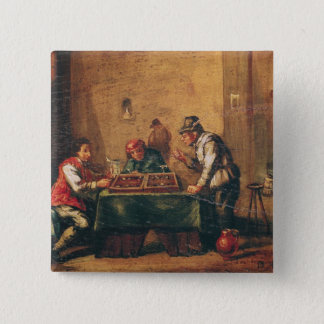 Men Playing Backgammon in a Tavern Button