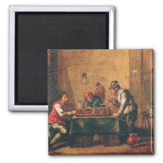 Men Playing Backgammon in a Tavern Magnet