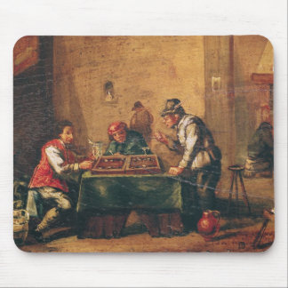 Men Playing Backgammon in a Tavern Mouse Pad