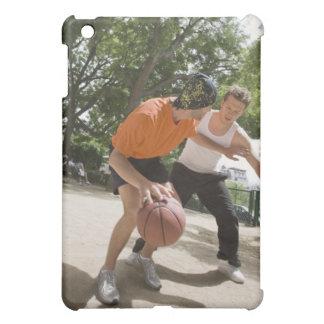 Men playing basketball outdoors iPad mini cover
