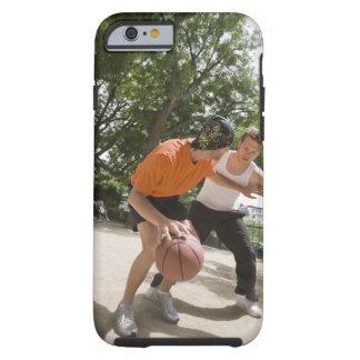 Men playing basketball outdoors tough iPhone 6 case