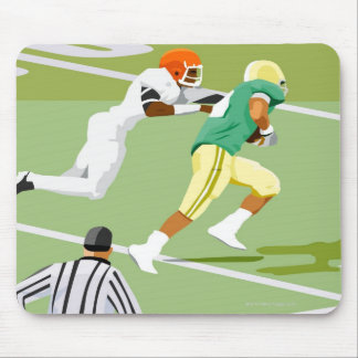 Men playing football 2 mouse pad