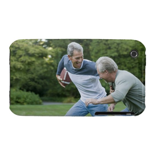Men playing football iPhone 3 cover