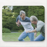 Men playing football mouse pads