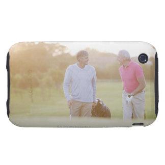 Men pulling golf carts tough iPhone 3 case
