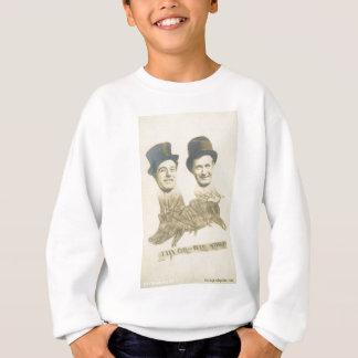 men riding a pig very funny sweatshirt
