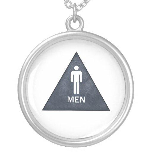 Men Round Pendant Necklace