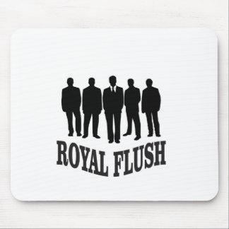 men royal flush mouse pad