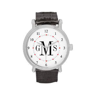 Men s Classy Personalized Monogram Watch
