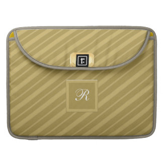 Men's Gold on Gold Tie Stripes Macbook Sleeve