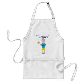 Men's retirement adult apron