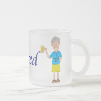Men's retirement frosted glass coffee mug