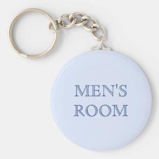 Men s room blue keychain