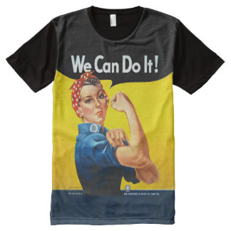 "Men's Rosie the Riveter ""We Can Do It!"" All-Over-Print T-Shirt"