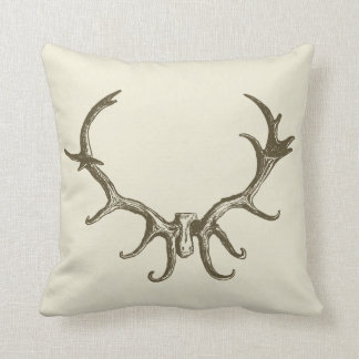 Men s Stylish Hunting Brown Deer Antler Retro Stag Pillows