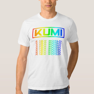 Men`s White Tee with Multi-Colored A New World Log